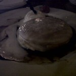 the pancake with ice vanilla slurpp
