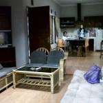 dapur, ruang makan, ruang tamu
