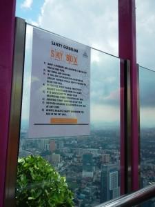 peringatan sebelum masuk skybox