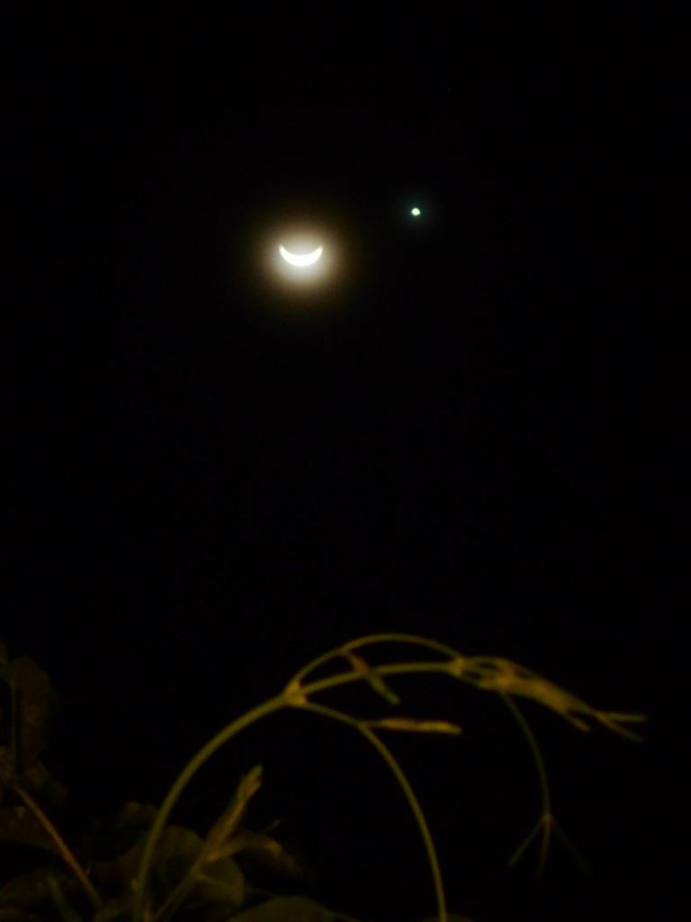 Bulan dan Venus 20119 0459 kabut tipis masih menyelimuti Dewai malam